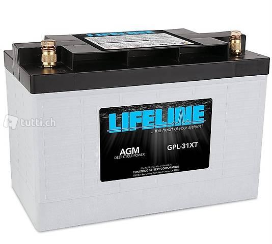 Marine-Batterie Lifeline GPL-31XT 125Ah 328x172x236