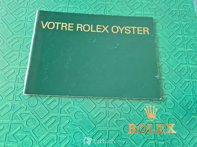 Your Rolex Oyster Booklet Jahrgang 07. 2000
