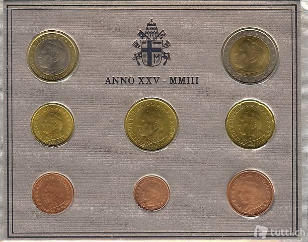 Euro Münzen Vatikanstadt 2003