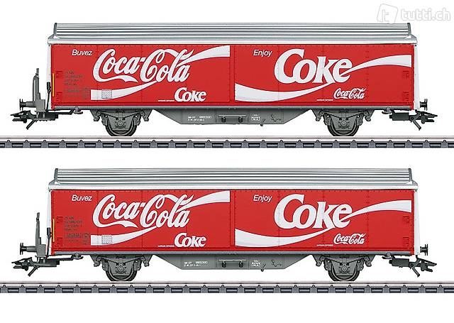"Märklin Art. 48344 Schiebewandwagen-Set Hbils-vy ""Coca Cola"""