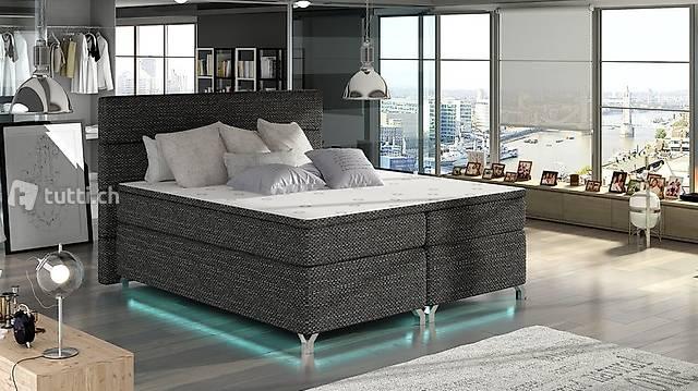 Boxspring Bett 180x200cm Betten Bettkasten Topper Matratze
