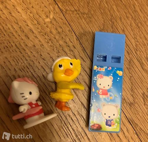 Pfeife und Figurinen Hello Kitty - Sifflet et figurines