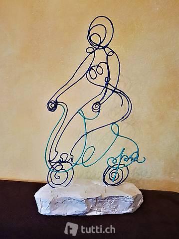 """Skulptur Draht """"Vespa"""" Handmade"""