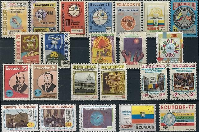 Briefmarken Briefe Ecuador Brasilien Südamerika