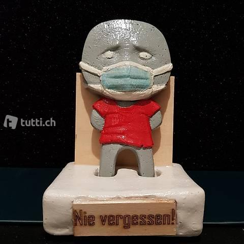"Skulptur Covido ""Nie Vergessen"" Handmade"