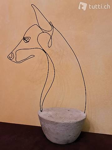 "Skulptur Draht ""Canis lupus"" Handmade"