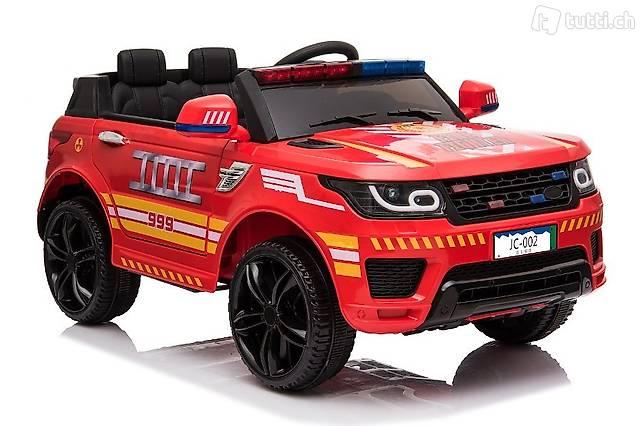 "Kinderfahrzeug - Elektro Auto ""Feuerwehr RR002"" - ,2 Motoren"
