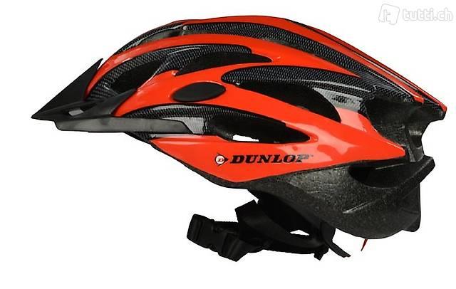 MTB Helm von Dunlop Grösse S rot (Gratis Versand)