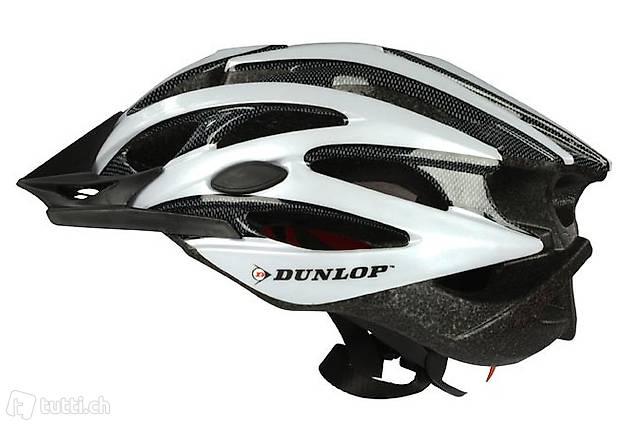 MTB Helm von Dunlop Grösse L weiss (Gratis Lieferung)