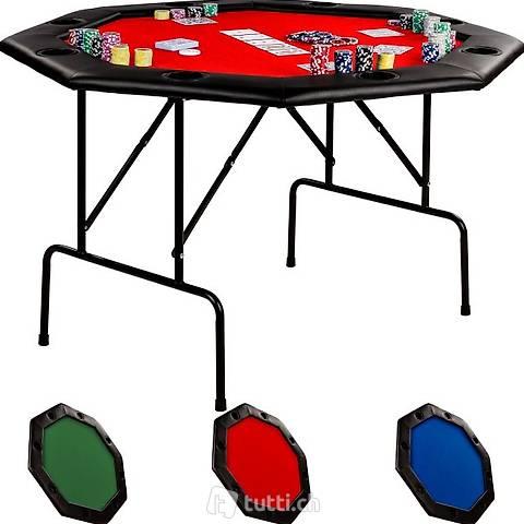 Tavolo da poker 122x122x76cm, colore (Consegna gratuita) 2
