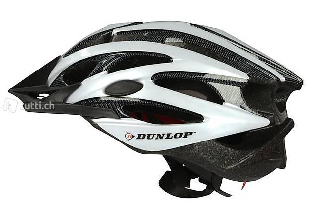 MTB Helm von Dunlop Grösse L weiss (Gratis Versand)
