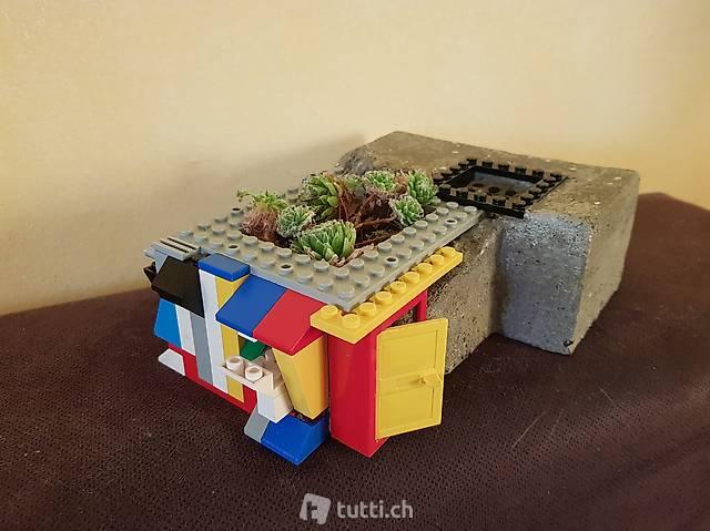 """Skulptur aus Lego """"Wase"""" Handmade"""