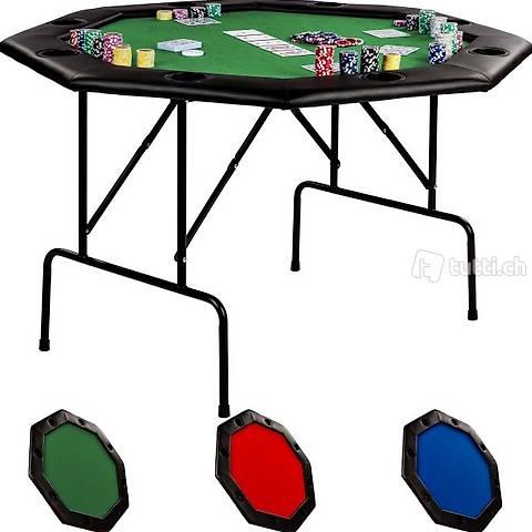 Tavolo da poker 122x122x76cm, colore (Consegna gratuita)