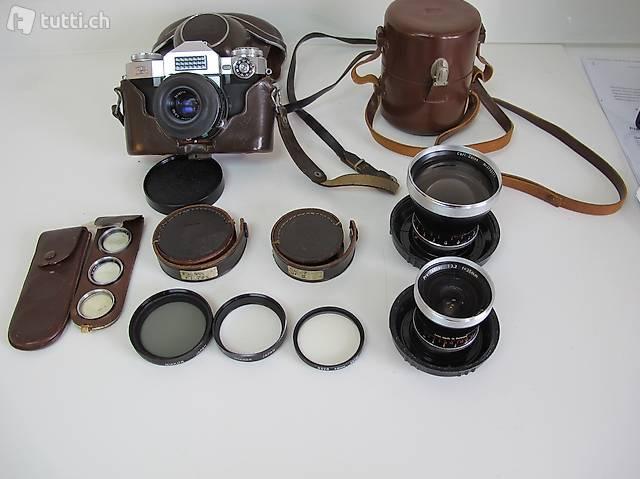 Zeiss Ikon Contaflex Spiegelreflex 35mm  Kompletausrüstung