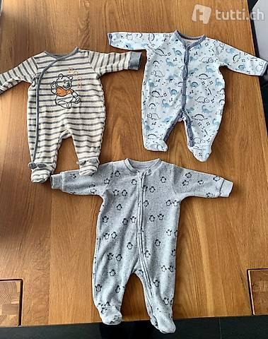 3 Baumwoll-Babypyjamas Grösse 62