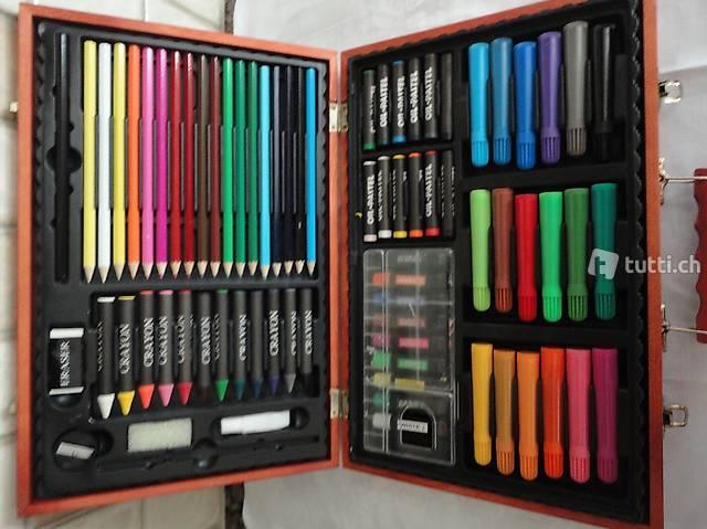 Farben, Farben, im Holzkoffer ungebraucht