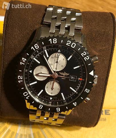 Herren Uhr Breitling Chronoliner GMT Chronograph
