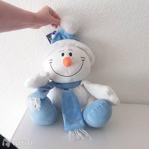 Eisbär Schneemann Plüschtier