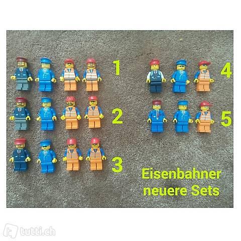 Lego Eisenbahner neuere Sets. einzeln