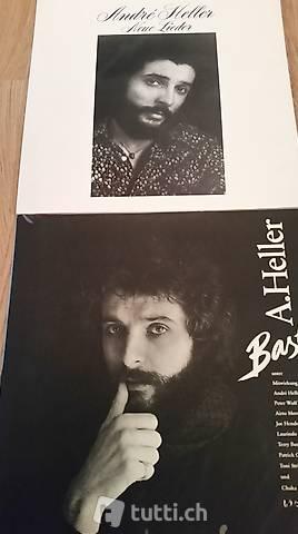 André Heller auf Vinyl: 2 LPs - Basta & Neue Lieder
