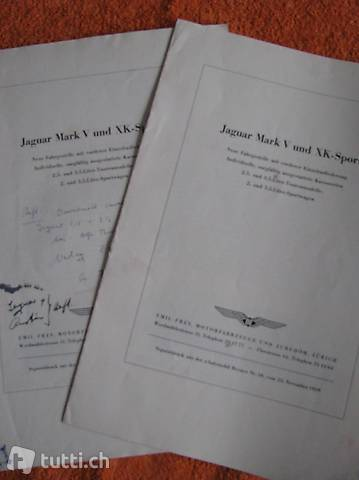 Jaguar Mark V und XK - Sport Sonderdruck