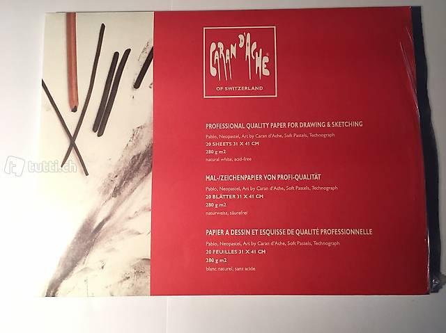 Malpapier / Zeichenpapier, 31 x 41 cm, Caran d'Ache