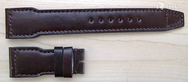 IWC Santoni Armband braun Big Pilot 22/18mm Faltschliesse