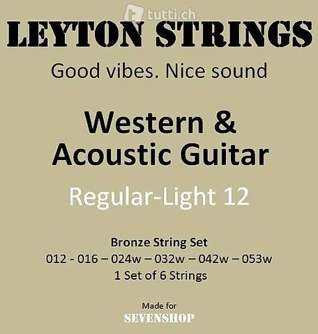 1x 6 Saiten für Western Gitarre, Westerngitarre, Guitar 012