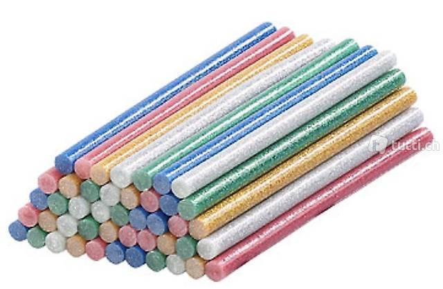 50 Klebesticks für Heißklebepistolen, 11 x 200 mm, bunt glit