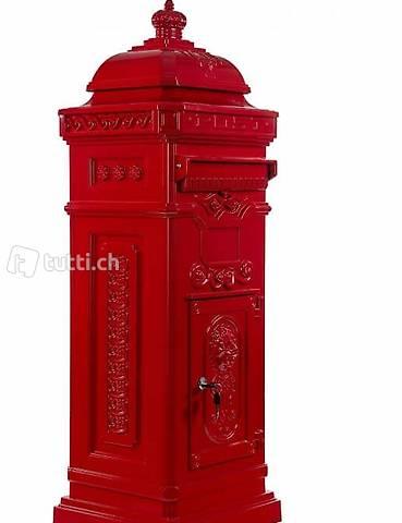 Aluminium Standbriefkasten rostfrei Postkasten Säulen-Briefkasten antik Bronze