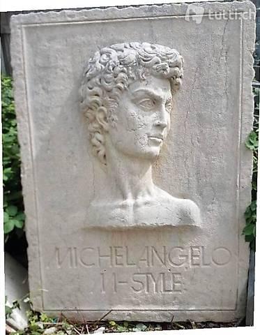 Michelangelo aus Italienischem Botticino Marmor 170 x 125 cm