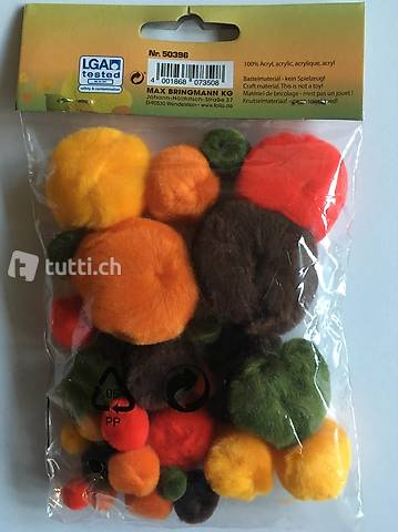 Pompons Herbst Mix