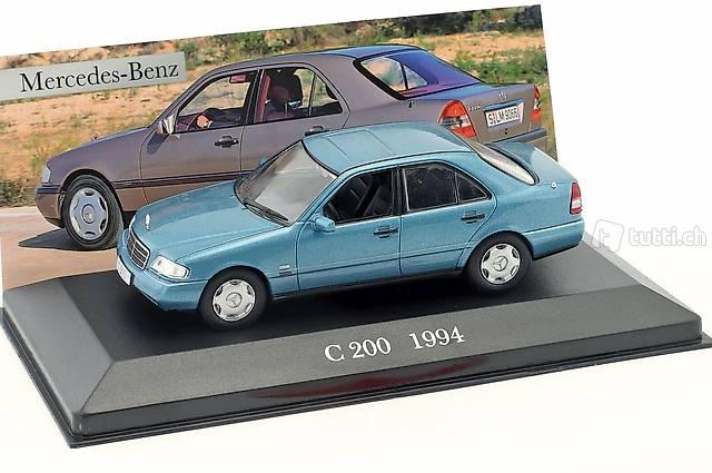 Mercedes-Benz C200 W202 1993-2001 hell blau met.  1:43