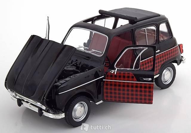 Modellauto 1:18 Norev Renault 4 Parisienne 1964 schwarz//rot