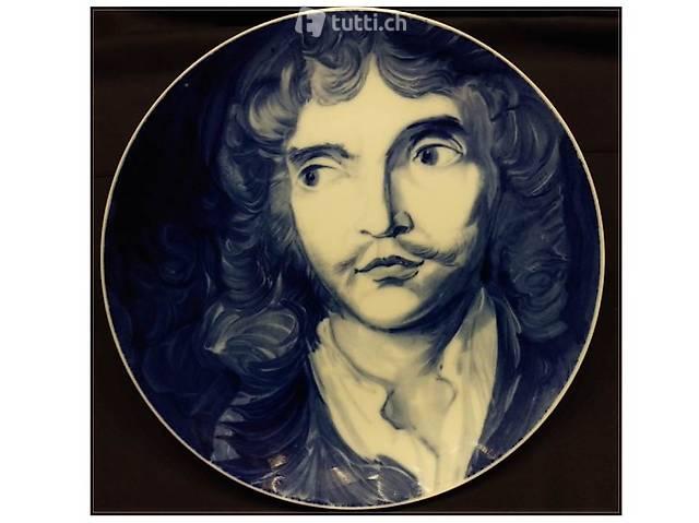 Meissen Porzellan Teller Jean Baptiste Moliére