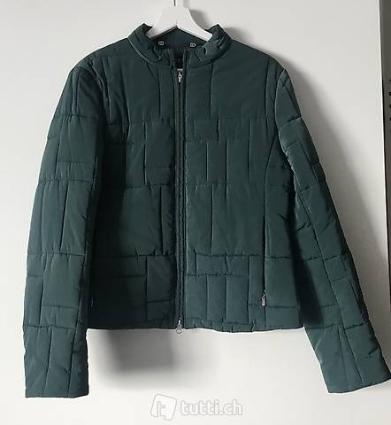 Escada green quilted jacket
