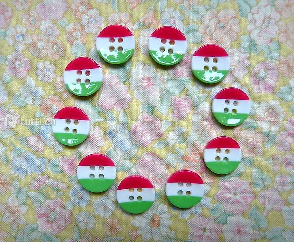 Boutons, Knöpfe - 12 mm - tricolore (B39)