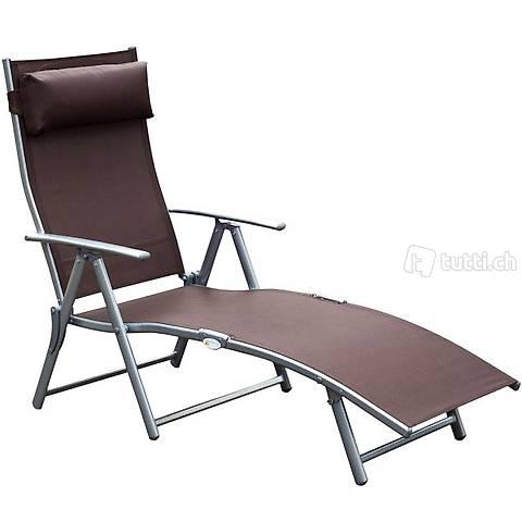 Sedia a sdraio con cuscino regolabile (Consegna gratuita)