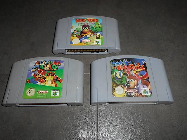 Mario 64, Diddy Kong Racing, Banjo Kazooie Nintendo 64