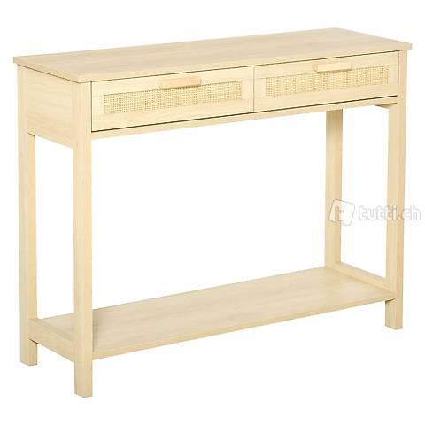 Konsolentisch Beistelltisch mit 2 Schubladen Sideboard