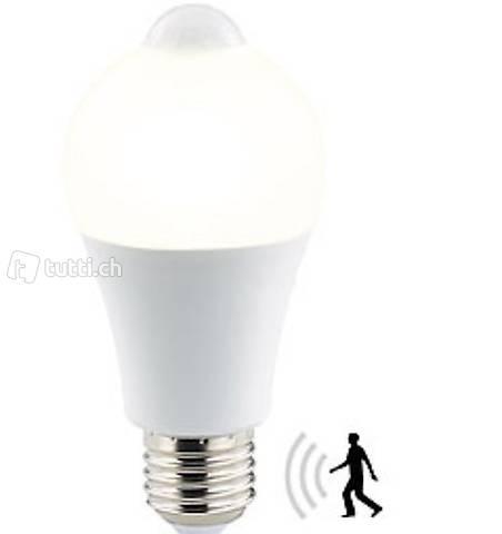 LED-Lampe, PIR-Sensor, 6,5 Watt, E27, warmweiß, 2700 K, 457