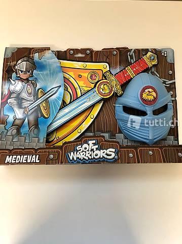 Soft Warriors Schild Schwert und Maske Neuware