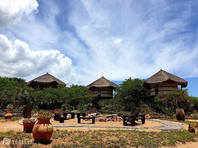 Idyllisches Resort am Strand in Afrika