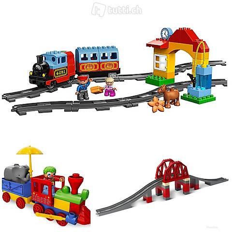 Lego 3x Duplo Zug, Clown, Brücke (Set 329)