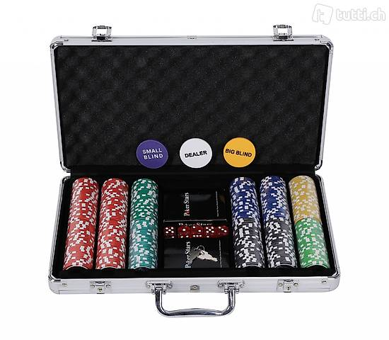 Profi Pokerkoffer mit 300 Chips (Gratis Lieferung)