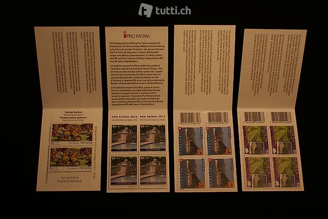 Briefmarkenheftchen Pro Juventute und Pro Patria