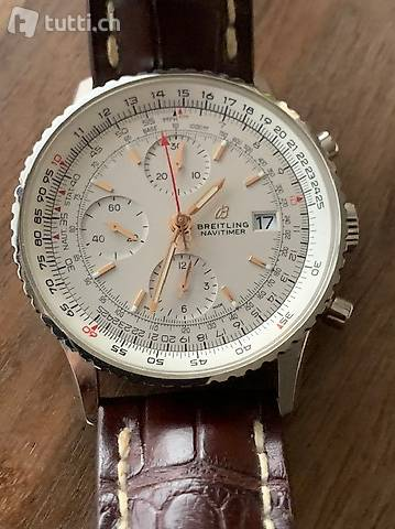 Breitling-Chronograph 41, 18-karätiges Rotgold-Perlmutt