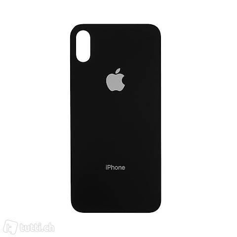 iPhone X - Ersatzteile Rückseite aus Glas - Schwarz