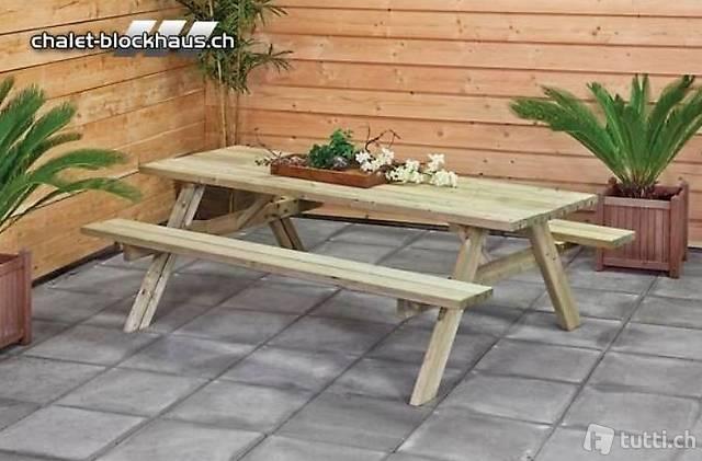 Picknicktisch Sitzgarnitur Gartenset 180 cm