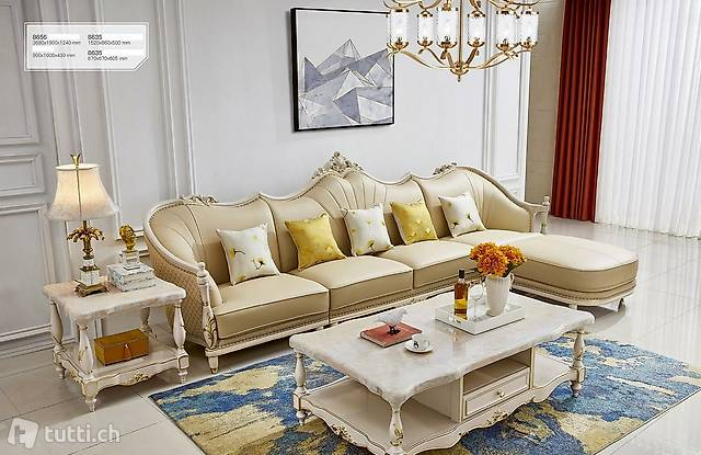 Ecksofa Sofa Couch Polster Wohnlandschaft Leder L Form Neu